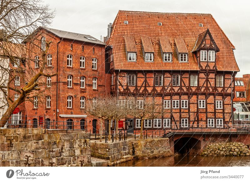 Abtmill in Lüneburg Luneburg Germany Lower Saxony Mill Abbot mill Water Half-timbered house Historic