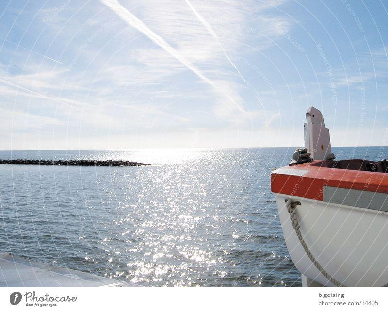 New work02 Watercraft Ocean Neuwerk Navigation North Sea Glittering Sun