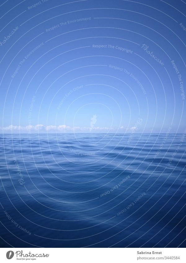 Water panorama with gentle waves and blue sky soft water soft waves Soft Blue Sky Clouds Tropical Exotic Waves holiday feeling vacation boat Sail ship