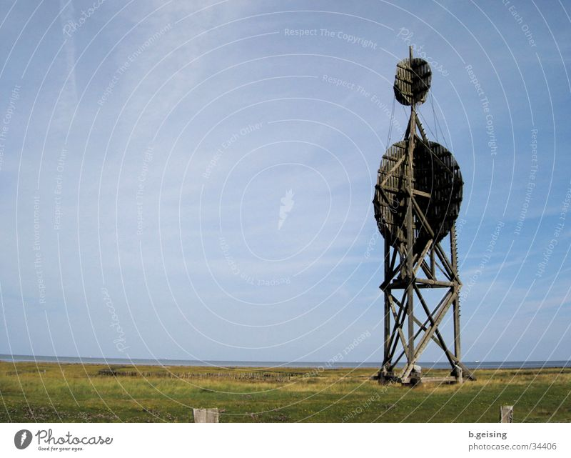 Blue Far-off places Island Vantage point Tower North Sea Neuwerk