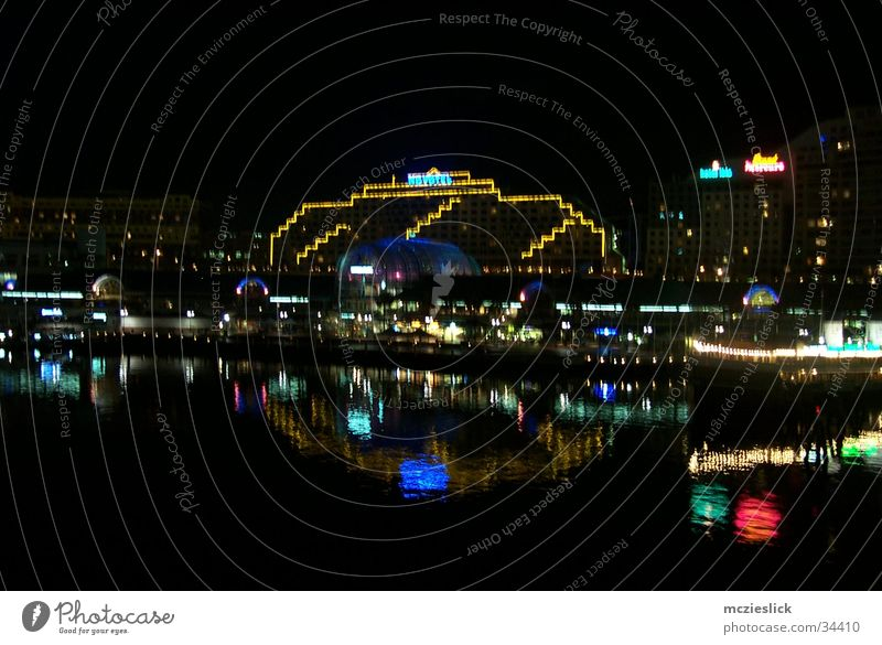 HOTEL Sydney Australia Night Light Reflection Hotel Architecture darling habour Lighting Water Harbour lights