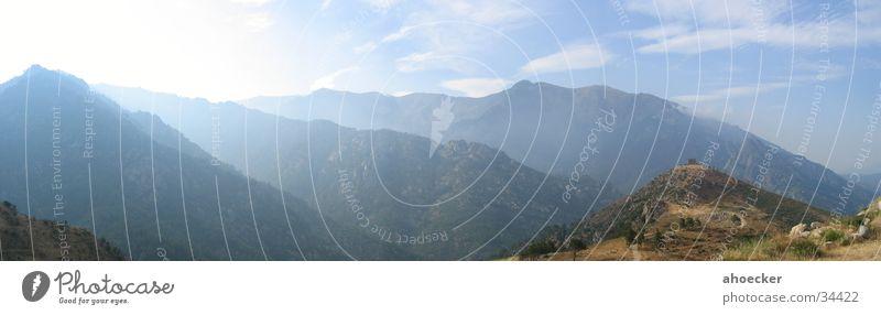 Sky Blue Clouds Mountain Large Panorama (Format) Corsica