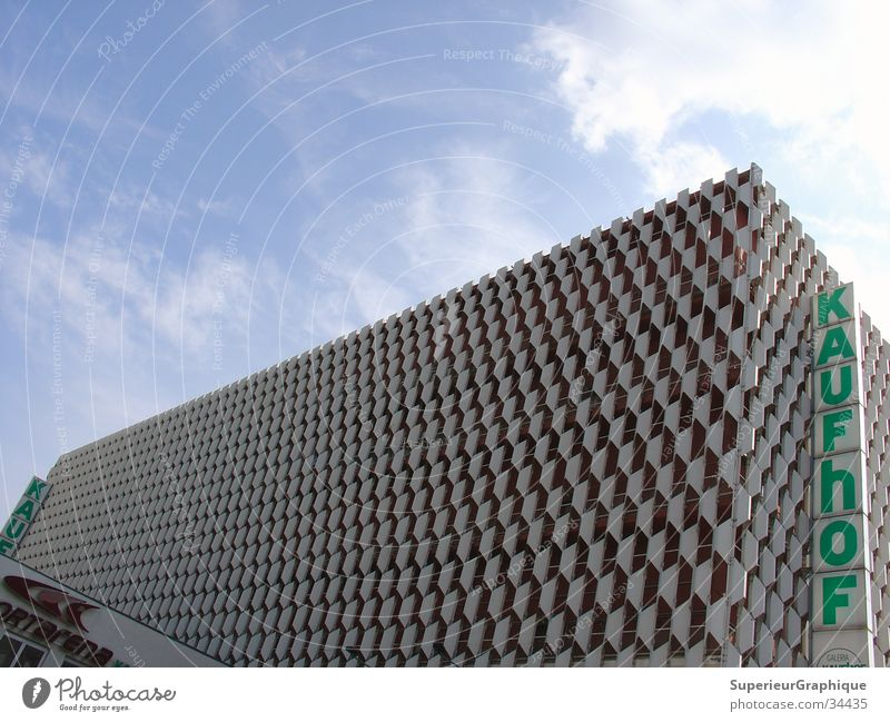 Centrum department store Alexanderplatz Mall Clouds Architecture Berlin Sky