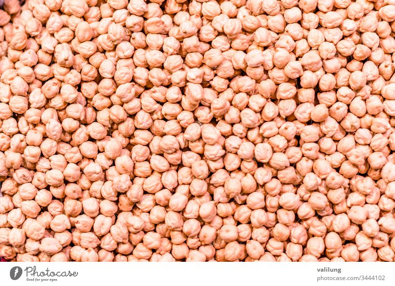 Detail of chick pea beans Cicer arietinum agriculture background chickpea closeup diet food fresh freshness grain harvest healthy ingredient legume natural