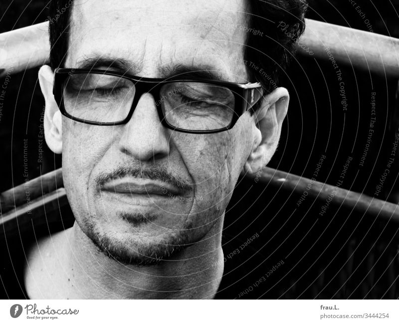 """""""Please, a moment's silence,"""" the man asked before throwing himself back into the ring of everyday life. Man tired Eyeglasses Portrait photograph Attractive"""