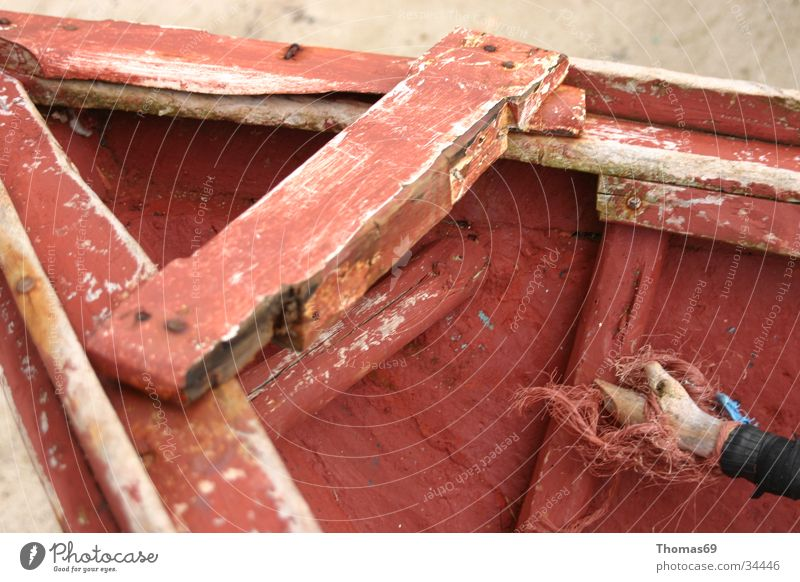 Old Red Wood Watercraft Things