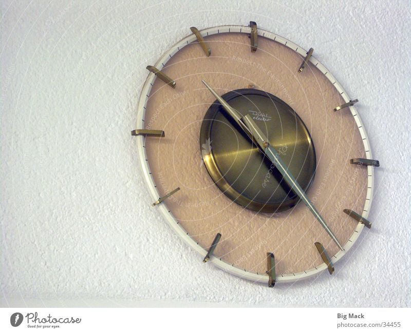 Time Clock Living or residing Seventies Iconic Wall clock