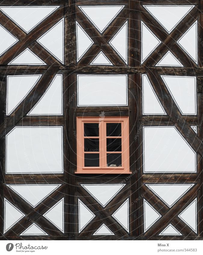 Old House (Residential Structure) Window Wall (building) Wall (barrier) Facade Flat (apartment) Living or residing Old town Restoration Half-timbered facade Half-timbered house