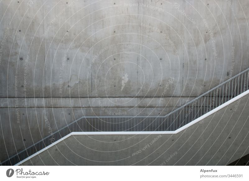 parallels Staircase (Hallway) Concrete Deserted Interior shot Architecture Building Wall (building) Banister Stairs Wall (barrier) Manmade structures Handrail