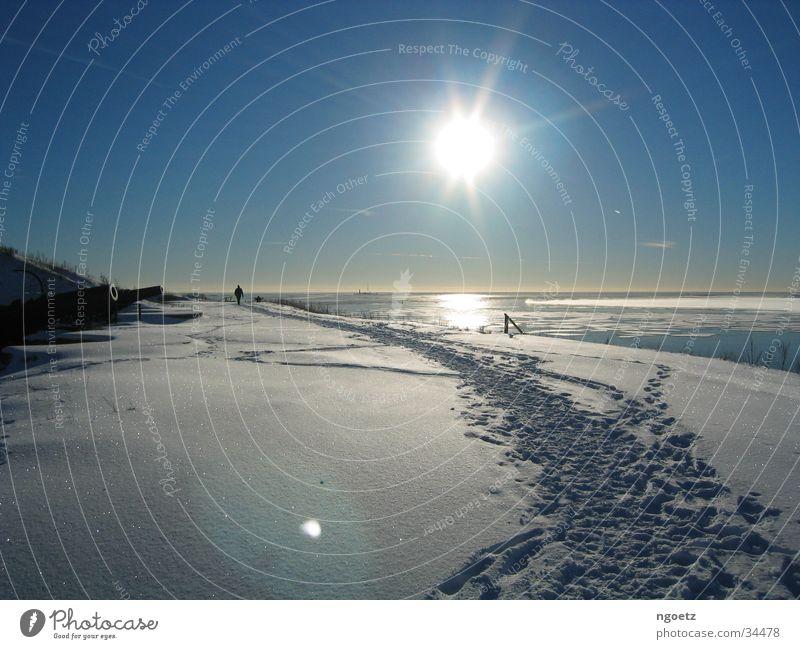 Sun Snow Snowscape Finland Helsinki