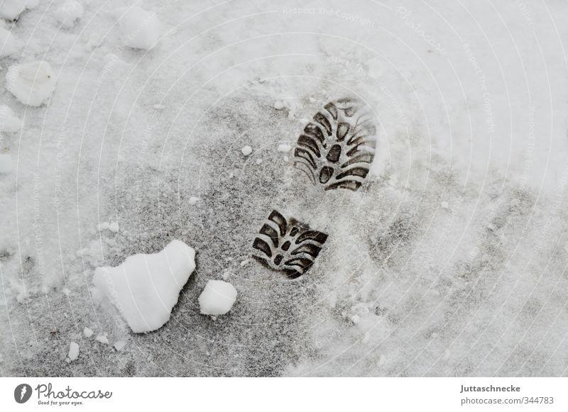 White Winter Cold Street Lanes & trails Snowfall Ice Frozen Tracks Footprint Freeze Legacy Winter mood Shoe sole