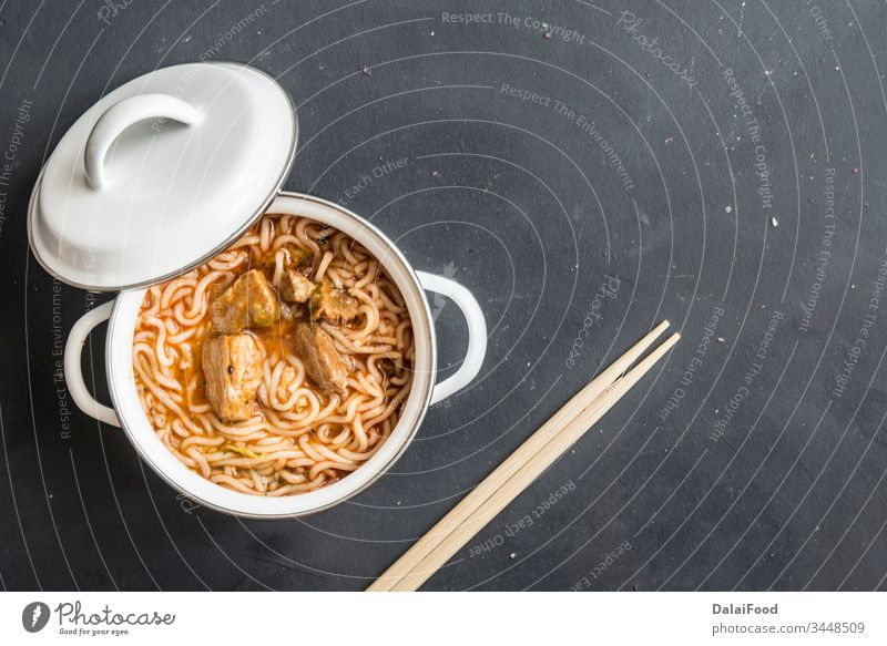 noodles with chicken meat in bowl on dark stone background asia asian beef chef chinese clear cuisine food delicious dinner dish dishes fresh fried gastronomy