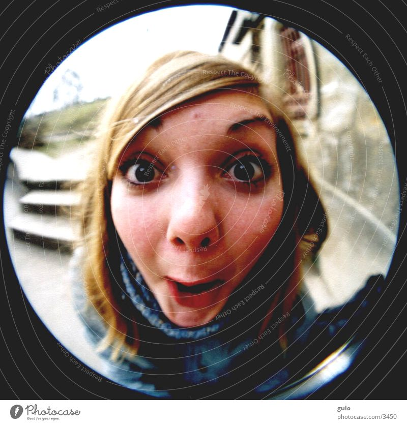 Woman Eyes Fisheye Circle