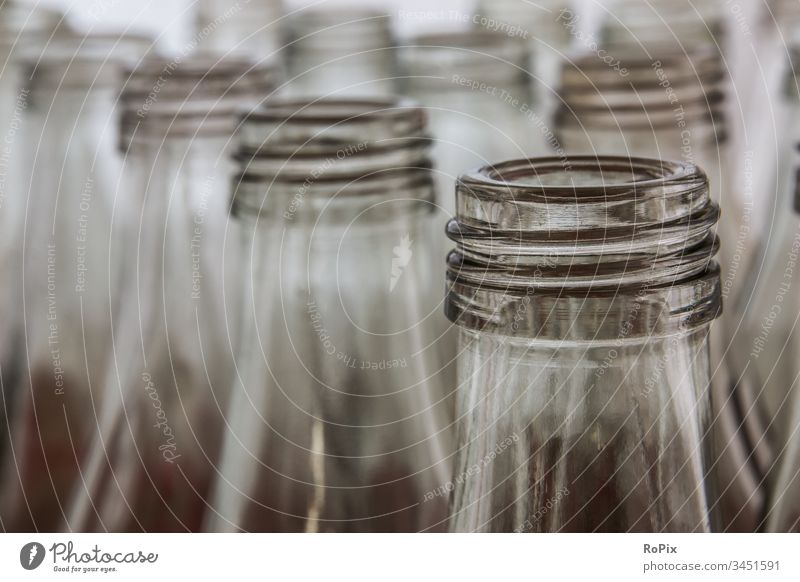 Returnable bottles in a car wash. Water water pipe aqua Wet Refreshment Drops of water Thread Bottle lid Neck of a bottle empty Reusable bottles drinks Cold