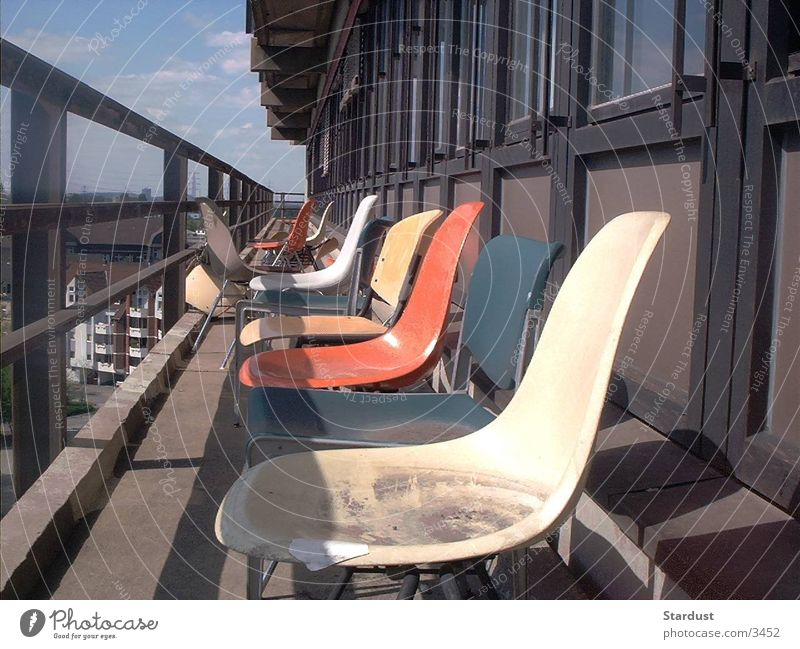 abandoned chairs Chair Balcony Untidy Things Dirty