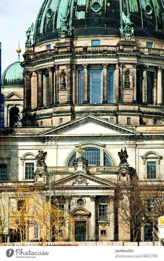 Berlin Cathedral, south portal Architecture on the outside city spring Spring Capital city House (Residential Structure) downtown Deserted City trip Copy Space