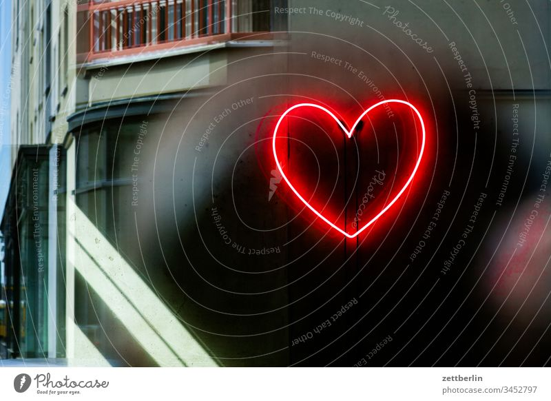 Heart of neon House (Residential Structure) downtown Deserted City trip Copy Space Neon light Advertising publicity Interior design interior