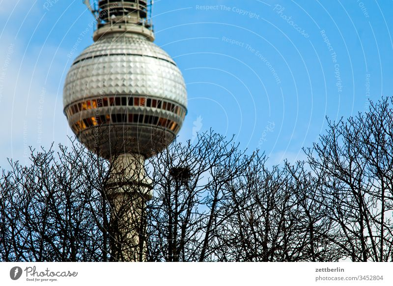 Television tower with crow's nest alex Alexanderplatz Architecture on the outside Berlin city spring Spring Capital city House (Residential Structure) downtown