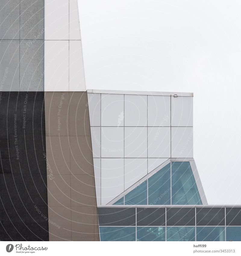abstract facade - discreet divergence Architecture Construction Facade Pattern Abstract Modern architecture Building Manmade structures Colour photo Glas facade
