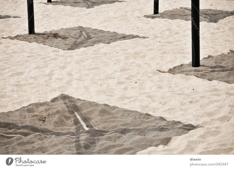 shadow Vacation & Travel Tourism Summer Summer vacation Sun Sunbathing Beach Sand Sunlight Beautiful weather Warmth Coast Umbrellas & Shades Sunshade