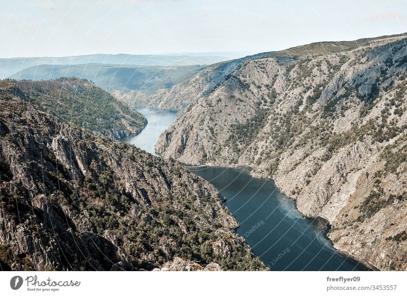 Sil canions from above Ourense background beautiful beauty blue canyon countryside environment europe field forest galicia gorge grape green landscape lookout
