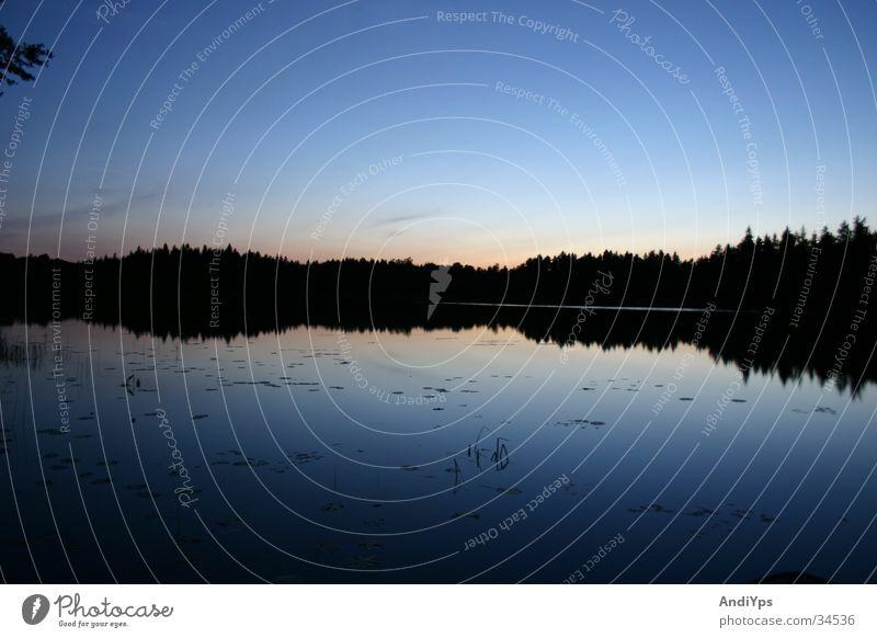 Nature Water Sky Blue Lake Landscape Sweden
