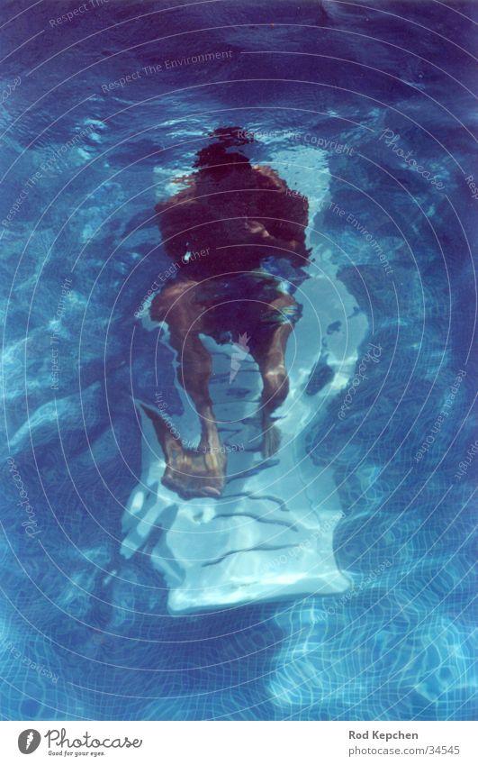 Human being Man Water Sun Ocean Summer Calm Dive Couch Underwater photo