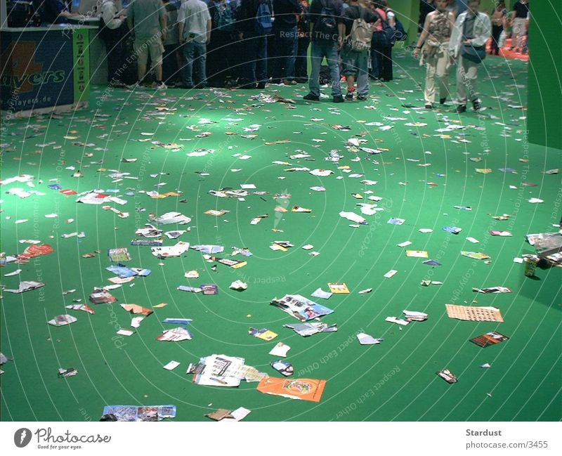 Green Paper Trash Church service Photographic technology Things