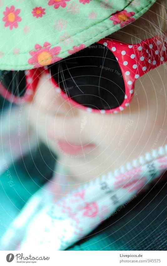 M.M.W. Human being Feminine Child Toddler Girl Head 1 1 - 3 years Eyeglasses Sunglasses Cap Cool (slang) Brash Beautiful Astute Colour photo Exterior shot