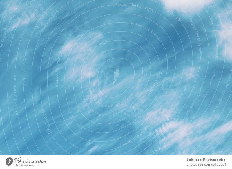Sky-Turquoise-Blue Clouds Movement hazy Blue sky turquoise Pattern already Weather good weather Beautiful weather idyllically Atmosphere Moody atmospheric