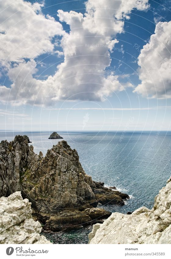 pea Vacation & Travel Nature Landscape Beautiful weather Rock Coast Bay Reef Ocean Cliff Wanderlust Colour photo Exterior shot Day Contrast Sunlight