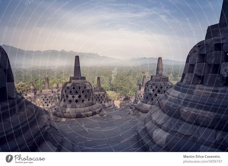 Borobudur Temple during the day, Yogyakarta, Java, Indonesia. amazing ancient architecture asia background borobudur buddha buddhism buddhist central classical