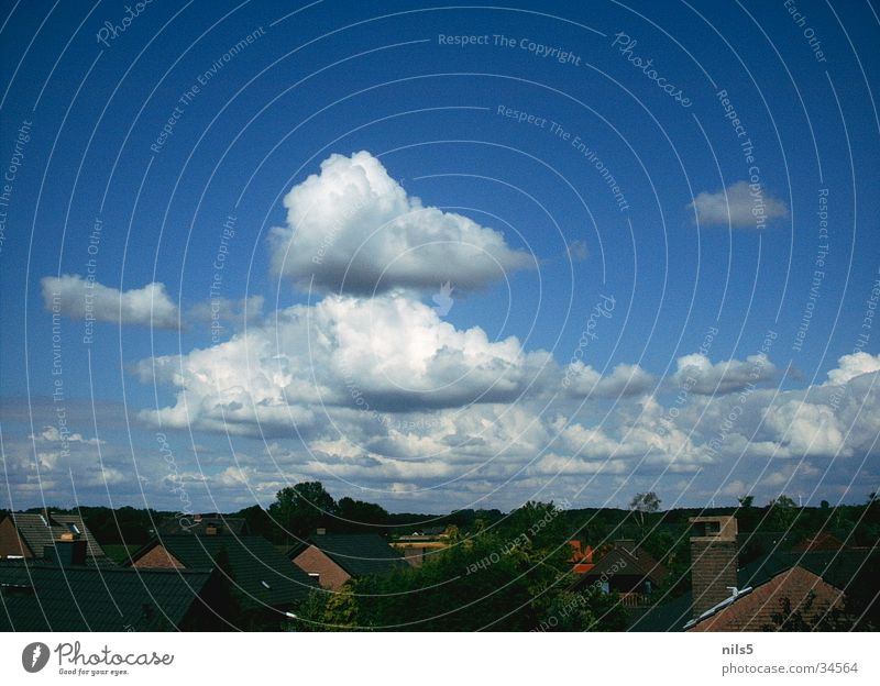 Sky Blue House (Residential Structure) Clouds Landscape Plain Cumulus Settlement