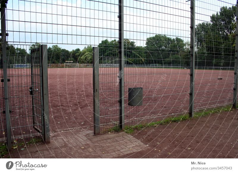 Open the door. Sporting grounds Hard court Sports club ash pit Fence Sporting Complex Leisure and hobbies Sporting event Football pitch Ball sports soccer