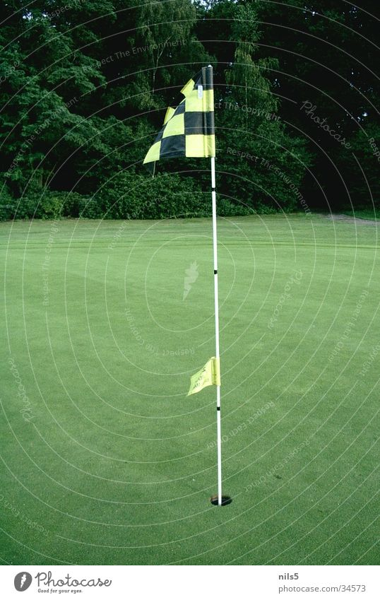 Green Sports Wind Places Lawn Flag Target Hollow Blow Arrest