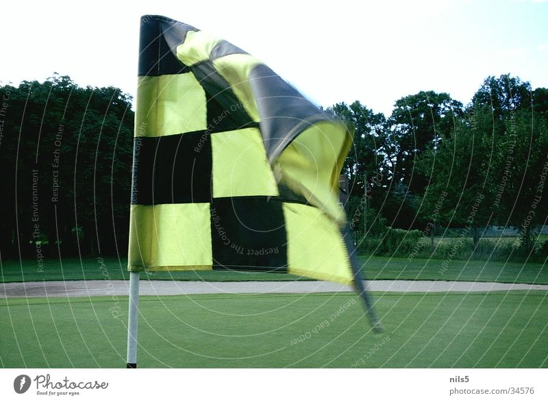 Black Yellow Sports Wind Places Corner Flag Target Golf Hollow Strike