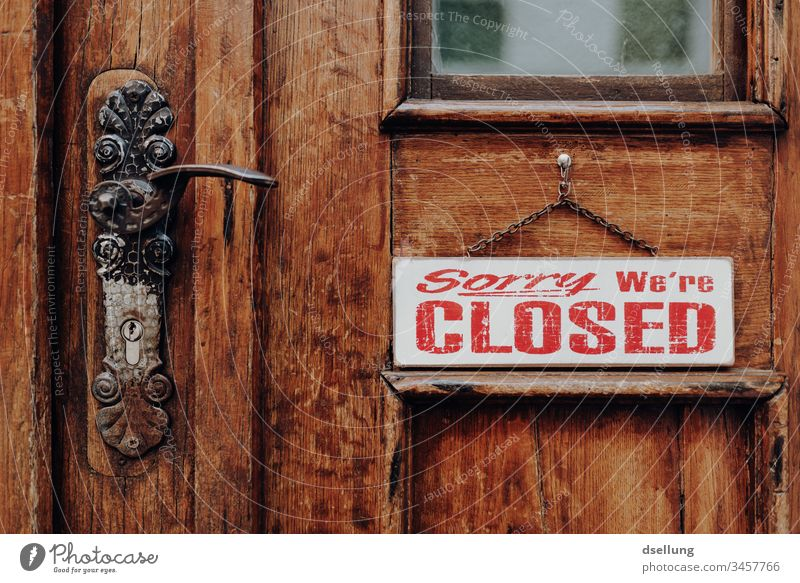 Locked wooden door that won't open anytime soon... Wooden door iron hinges Door Brown Closed Ancient Beautiful Front door Historic Historic Buildings Goal