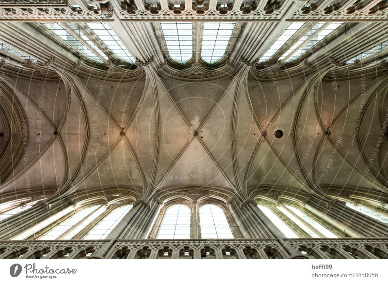 arched ceiling of a church Church Church window Sanctuary church roof Interior shot Religion and faith Window Hope Architecture Glass Christianity