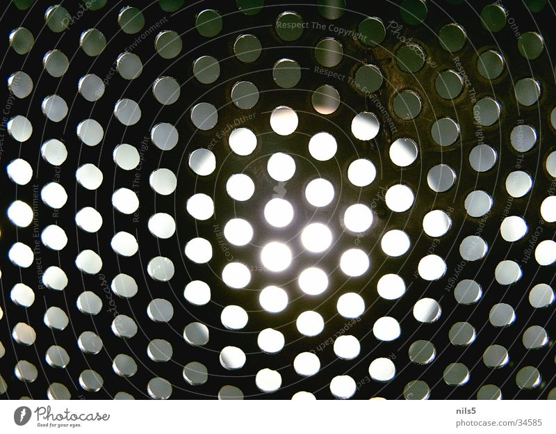 perforated grid Light Lamp Hollow Perforated grid Motive Near Living or residing Bright motif Macro (Extreme close-up)