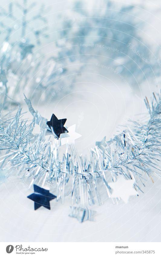 Blue Christmas & Advent White Feasts & Celebrations Bright Glittering Decoration Star (Symbol) Silver Festive Christmas decoration