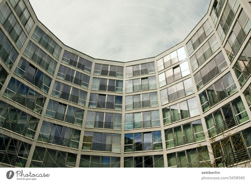 Semicircular new building Architecture on the outside Berlin city spring Spring Capital city House (Residential Structure) downtown Deserted City trip