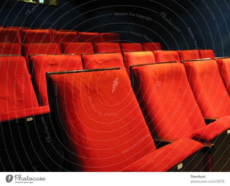 Cinema is the greatest! Leisure and hobbies Armchair Film industry Video Sit Red Movie theater seat Movie hall Colour photo Interior shot Deserted