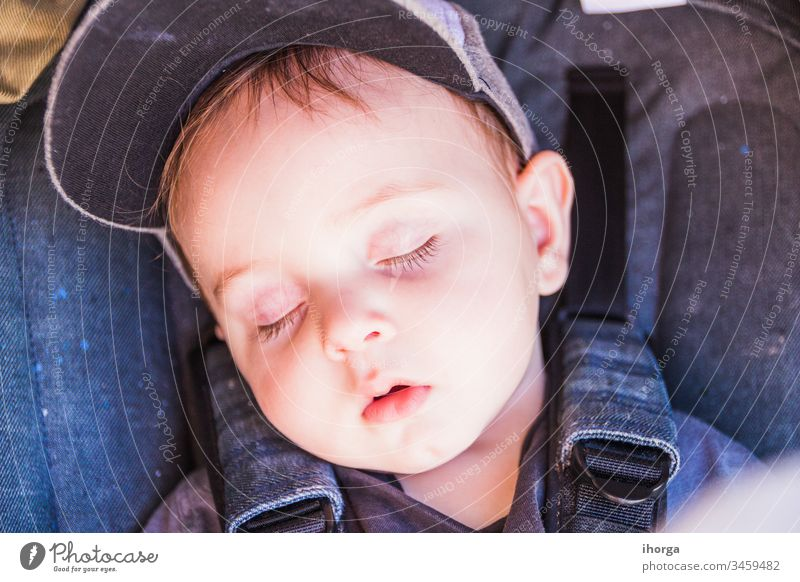portrait of a beautiful sleeping baby adorable beauty boy caucasian child childhood close-up closed closeup cute dream eyes face hand health healthy human