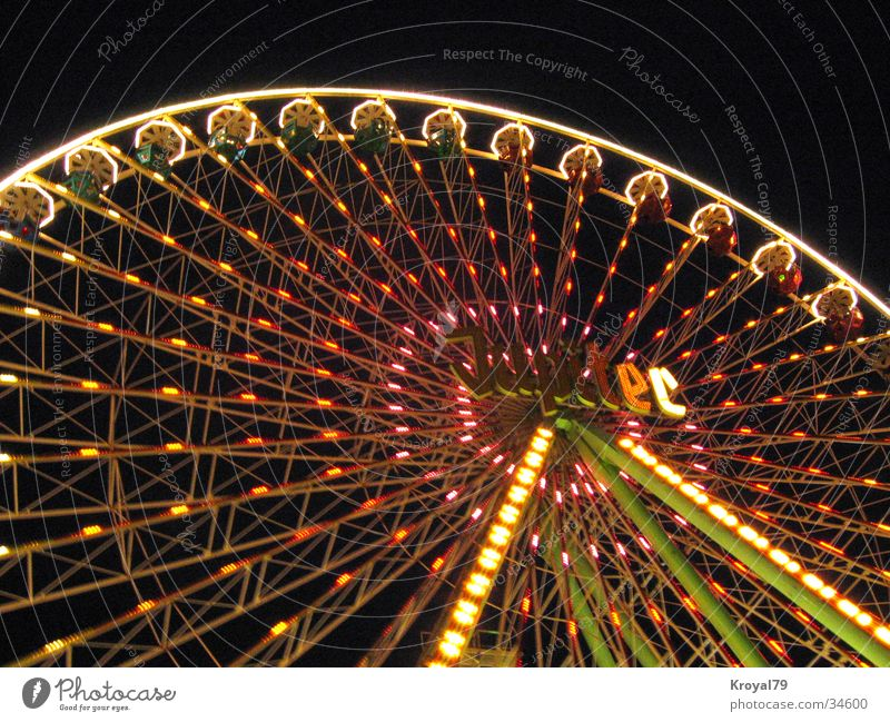 giant wheel night Fairs & Carnivals Ferris wheel Leisure and hobbies Joy Feasts & Celebrations