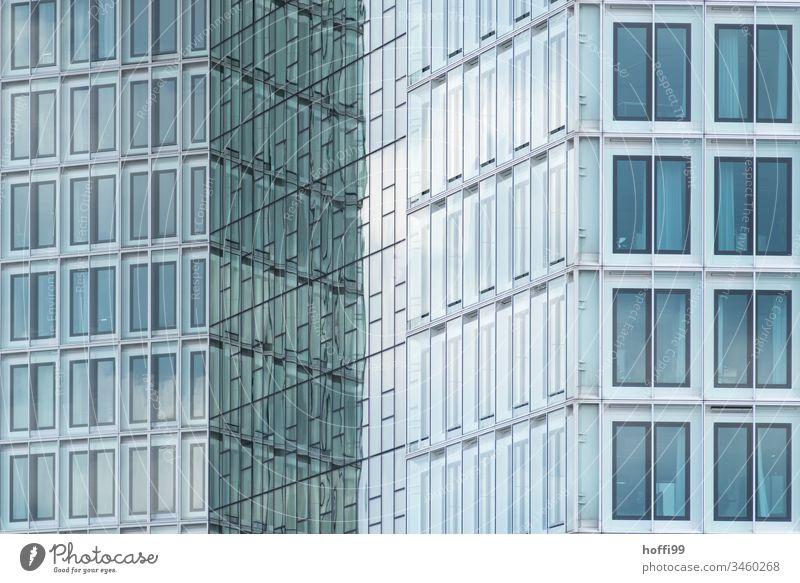 facade with diagonal transition abstract Facade glass glass facade Architecture Glass Building Modern High-rise Glas facade High-rise facade Office building