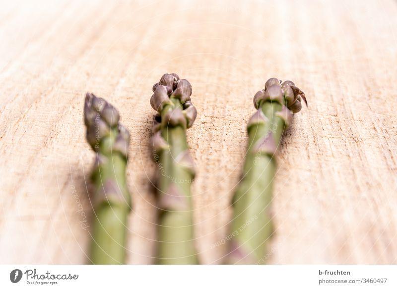 Green asparagus tips Asparagus tips Vegetable Organic produce Vegetarian diet Healthy Eating Fresh Delicious Asparagus season Close-up Asparagus spears