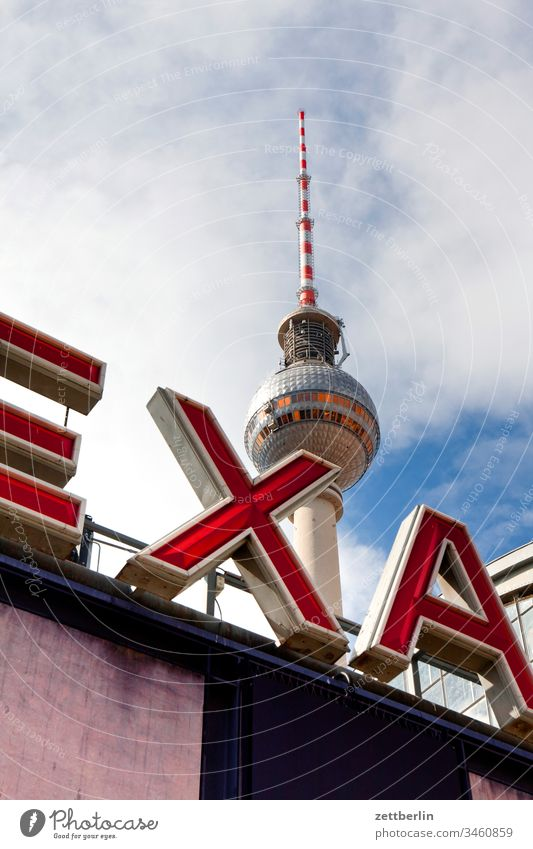 Berlin-Alexanderplatz station with television tower alex Architecture on the outside city Television tower spring Spring Capital city