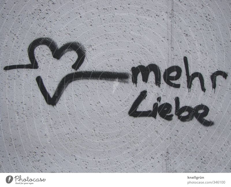White Black Graffiti Love Wall (building) Emotions Wall (barrier) Happy Heart Characters Communicate Hope Sign Romance Joie de vivre (Vitality) Desire
