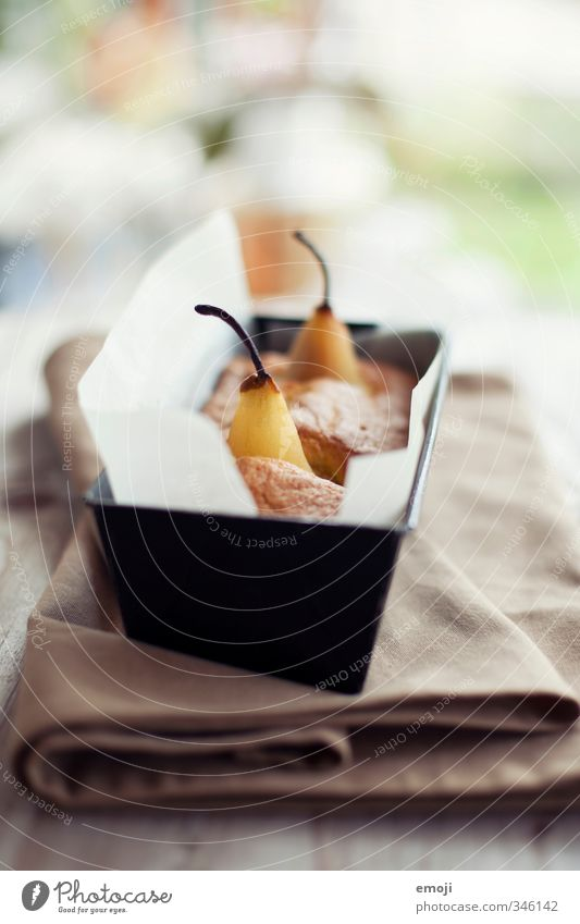 cakes Fruit Cake Dessert Candy Nutrition Slow food Delicious Sweet Pear Baking tin Food photograph Colour photo Interior shot Deserted Day