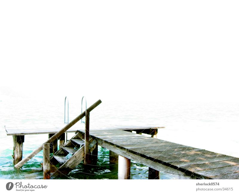 The width Lake Footbridge Calm Austria Wood Far-off places Graffiti Bright Water Handrail